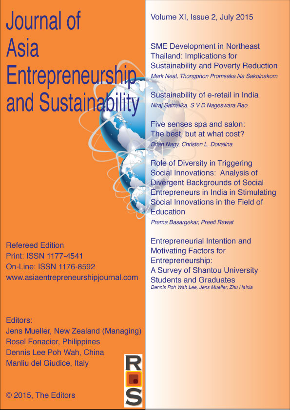 Welcome to Journal of Asia Entrepreneurship and Sustainability